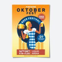 Volantino o poster della festa dell'Oktoberfest