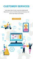 Negozio online di assistenza clienti vettore