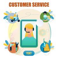 Negozio online di servizio clienti Banner vettore