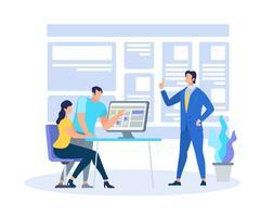 Business Coach Dimostrando informazioni di apprendimento