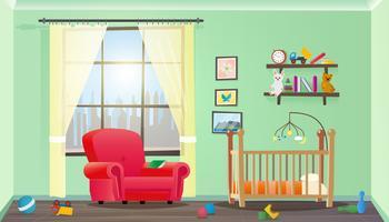 Interno della camera dei bambini