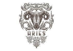 Segno zodiacale Ariete vintage