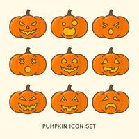 Set di zucca di Halloween vettore
