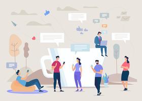 Comunità dei social network vettore