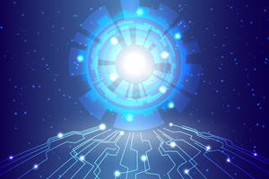 Priorità bassa astratta di tecnologia Priorità bassa digitale di comunicazione alta tecnologia vettore