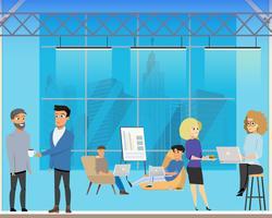 Riunione d'affari nell'area condivisa creativa