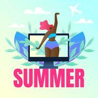 Banner di vacanze estive vettore