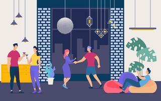 Festa danzante vettore