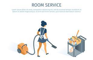 Cameriera di servizio in camera