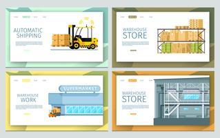 Set di magazzino di lavoro vettore