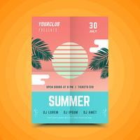 Manifesto geometrico di festa d'estate