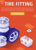 Poster di montaggio pneumatici vettore