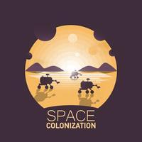 Colonizzazione di Space Rovers vettore