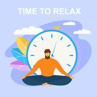 Medita nella posizione del loto