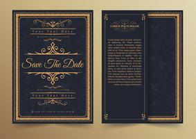 Salva il modello della scheda dell'invito della data.
