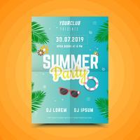 Locandina festa estate spiaggia
