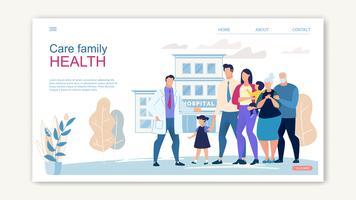 Banner del sito Web per l'assistenza sanitaria familiare