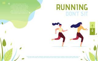 Non sedere correndo sulla pagina di destinazione motivazionale