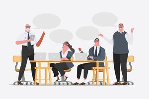 Design dei personaggi del team aziendale vettore