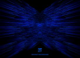 Linee blu di prospettiva di connessione dati tecnologia vettore