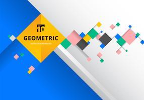 Quadrati colorati con composizione futuristica vettore