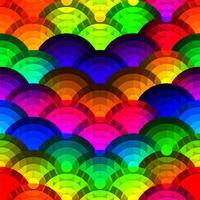 Cerchi colorati sfondo senza soluzione di continuità vettore