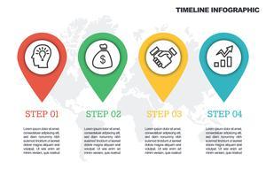 Modello di infografica GPS