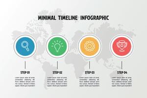modello di infografica icone affari