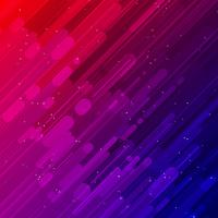 Raggi diagonali rossi e blu luce ed effetti di luce sfondo diagonale vettore