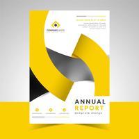 Modello di relazione annuale con nastro di design creativo