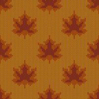 Modello a maglia foglie d'acero autunno