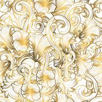 Sfondo di lusso con colore oro vettore