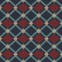 Motivo a maglia etnico geometrico vettore