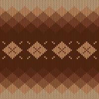 Motivo a maglia geometrico con sfumatura e diamanti