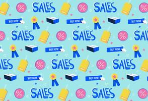 Fondo disegnato a mano del modello di promozione delle vendite