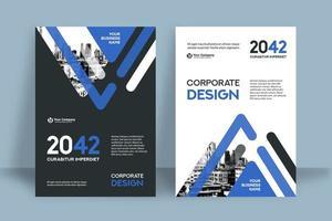 Modello di progettazione della copertina del libro di affari del fondo della città