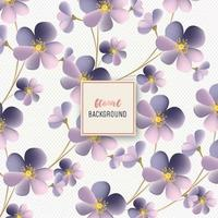 Bel disegno floreale motivo floreale viola