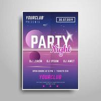 Night party Campione volantino verticale rosa