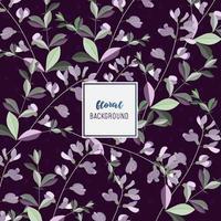 Bellissimo disegno di sfondo floreale viola