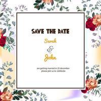 Elegante carta floreale Save the Date