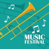 strumento musicale a tromba vettore