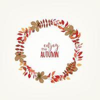 Cornice circolare di foglie d'autunno