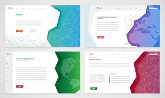 Set di modelli di siti Web vettore