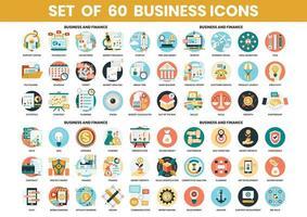 Set di icone di affari e finanza