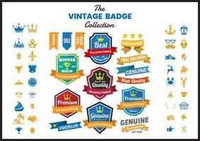 Collezione di badge vintage vettore