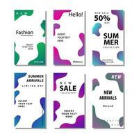 Set di volantini di vendita di social media