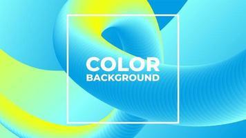 Miscela gradiente commovente blu giallo moderno sfondo vettore