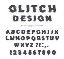 Progettazione di font glitch vettore
