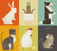 Set di simpatici animali da fattoria