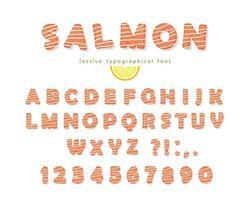Carattere di salmone vettore